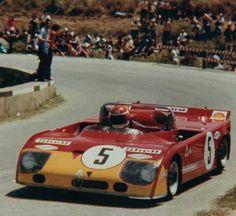 Nanni Galli (pictured) / Helmut Marko, #5 Alfa Romeo T33/TT/3 (Autodelta SpA), Targa Florio 1972 (2nd)