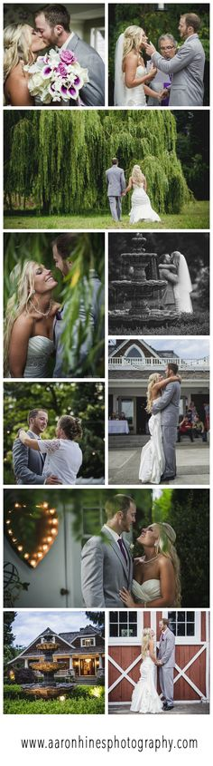 Wedding photos at Laurel Creek Manor