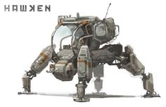 """Concept Design Academy: """"Art of Hawken: Mech Design"""" this Saturday~!!  ★ 