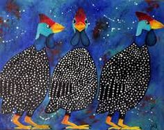 guinea fowl art - Google Search