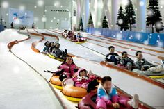 Woongjin Play City, Bucheon, Korea! Fake snow for sledding^^