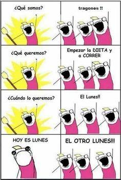 La dieta de los lunes jaja #spanish