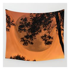 Orange Evening - Justart © Wall Tapestry ($39) ❤ liked on Polyvore featuring home, home decor, wall art, wall tapestries, tapestry wall art, photo wall art, outdoor wall art, orange home accessories and orange wall art