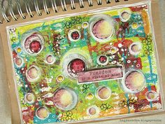 Art Journal, mixedmedia, Dylusions Paint