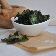 Kale Chips - I just gotta break down and try them.  Everyone says they are delicious.  I'm sure I'll love them.  I'm just leery...  But I'll try it!~