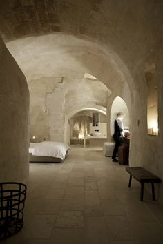 Corte San Pietro Hotel is an abandoned structure that was beautifully restored into a luxury hotel by architect Daniela Amoroso, located in Matera, Italy.