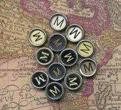 One Vintage Typewriter Key  The Letter M by TheCraftyStore on Etsy
