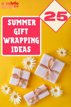 We have collected interesting summer gift wrapping ideas. Summer has been filled with a line-up of weddings and birthdays. We're scrolling through all the awesome ideas around for wrapping each present in a simple and pretty way. Here are easy ideas for wrapping gifts this summer, each more fun than the next. Check this pin now! #summer #giftwrapping #giftwrappingideas Wrapping Gifts, Wrapping Ideas, Mountain Crafts, Creature Comforts, All Holidays, Special Gifts, More Fun, Paper Flowers, Birthdays