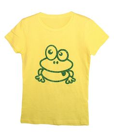 Love this Yellow Frog Tee - Girls on #zulily! #zulilyfinds