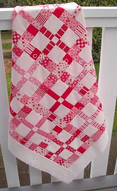 Dime store. simple color combination makes the quilt pattern really show