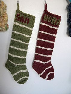 This stocking knits up super fast out of bulky or extra bulky yarn. It takes about three hours to make and are easily altered or embellished to make them different. It uses an afterthought heel for better looking when it's flat.