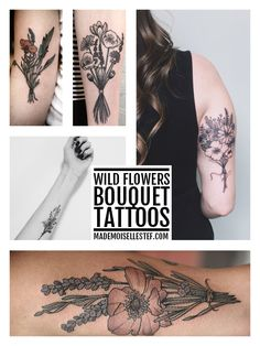 Tattoo Ideas #38 - Wild Flowers Bouquet I