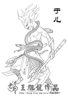 《山海经》描述:神于儿居之,其状人身而身操两蛇,常游于江渊,出入有光。 于儿神在《山海经》里也算是有点名气的神,虽然后来的神话里也完全没见过什么记载。