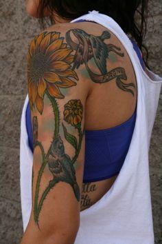 San Diego artist....flower tattoo