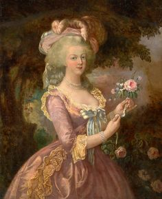 Elisabeth Louise Vigee le Brun, Portrait of Marie-Antoinette #rococo (I'll never look at silk the same way again...)