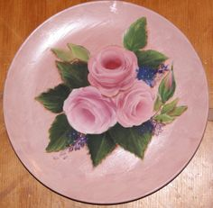 Hand Painted plate by Shahrzad