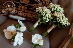 orchids for corsages - strong whites