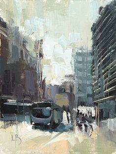 City Study, 8×6″, Oil on fine cotton board.