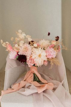 This pink Lisbon palace elopement was made to empower brides to get creative with weddings - 100 Layer Cake Dahlia Wedding Bouquets, Romantic Wedding Flowers, Bridal Bouquet Pink, Fall Bouquets, Floral Wedding, Blush Wedding Stationery, Pink Wedding Invitations, Winter Bouquet, Blush Pink Weddings