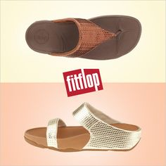 Fresh from FitFlop! Check out the NEW Lulu Weave Thong and Slide sandals.