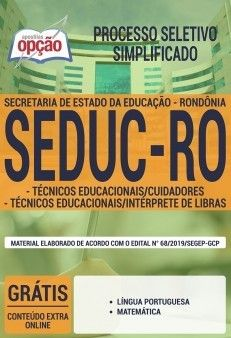 Apostila Seduc Ro Pdf 2019 Tecnico Educacionais Cuidadores E