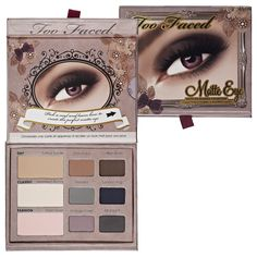 Too Faced Matte Eye Shadow Collection all colors used or swatched x2, will provide pics