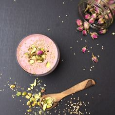 Persian Love Smoothie with Raspberry, Rosewater and Cardamom
