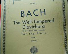 1925 el clavicordio bien temperado de BACH para biblioteca de Piano libro 1 preludios fugas volumen 1483 Schirmer de clásicos musicales