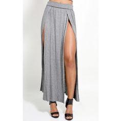 Double Side Slit Maxi Skirt
