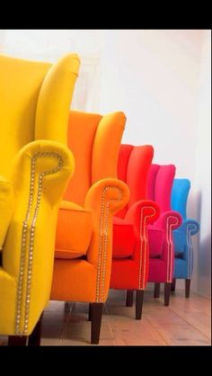 Bright, bold chairs - mdg