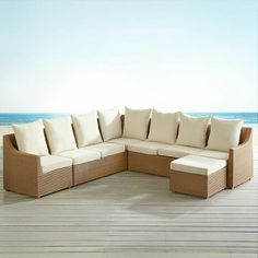 Ciudad Light Brown Slope Arm 6 Piece Sectional by Pier 1 Imports
