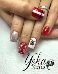 Christmas Nails, Daisy, Nail Designs, Halloween, Beauty, Style, Polish Nails, Christmas Nail Art, Holiday Nails