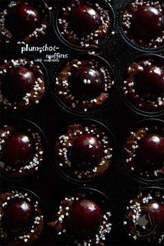 Fabi´s Culinariyumm: Plum-Chocolate-Muffins with walnuts  http://culinariyumm.blogspot.de/2013/10/plum-chocolate-muffins-with-walnuts.html