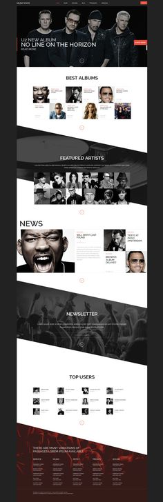Music State - Music & Bands Joomla Template on Behance