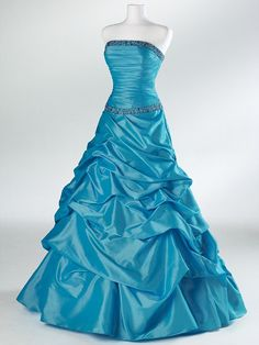 Prom dresses Blue dresses taffeta Dress Bridesmaid Dress Evening Prom Dress$158.00