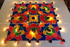 Rangoli is a widely practiced art form across India. Rangoli is gaining importance in weddings also. Rangoli designs are very appealing to the eye.
