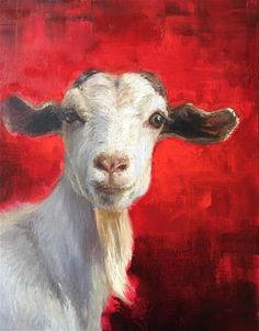"Daily Paintworks - ""Got Your Goat"" - Original Fine Art for Sale - © Lisa Wald"