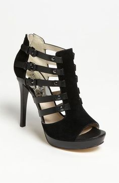 MICHAEL Michael Kors 'Caelan' Sandal available at must have on my way Nordstrom! Hot Shoes, Shoes Heels, Heeled Sandals, Suede Heels, Strappy Sandals, Gladiator Sandals, Dress Sandals, Pretty Shoes, Beautiful Shoes