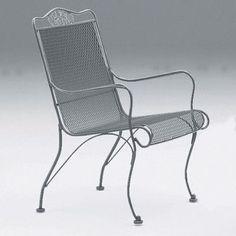 Woodard Briarwood High Back Lounge Chair Finish: Hammered White