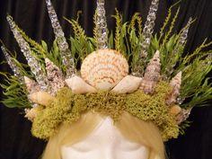Mermaid Crown Queen of the Sea SeaShell Crown King Crown Mermaid Costume Burning…