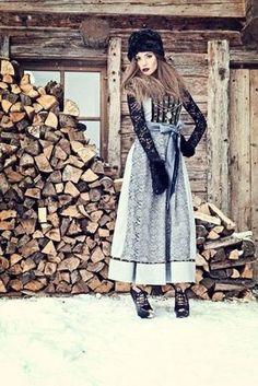 Jan&Ina Trachten HW 2013 via dirndlmag. German Fashion, Russian Fashion, Couture Mode, Couture Fashion, Traditional German Clothing, German Outfit, Fairytale Fashion, Russian Beauty, Folk Fashion