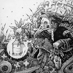 Macabre music illustrations by Silencer 8 #bleaq #drawing #illustration #skulls