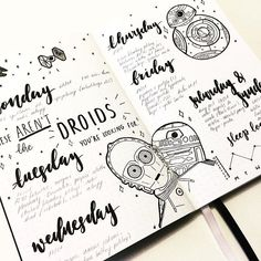☝These aren't the droids you're looking for! Or... maybe they are. Yes, ​folks, it's Star Wars time. Are your bullet journal layouts filling up with droids and wookies and all sorts of fun Star Wars references? If they are, raise your hand and be counted. Better yet, let me know that you tried theme in your own journal. #popculture #bulletjournal #StarWars