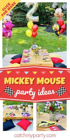 Check out this fun Mickey Mouse and the Roadster Racers birthday party! The table settings are great! See more party ideas and share yours at CatchMyParty.com