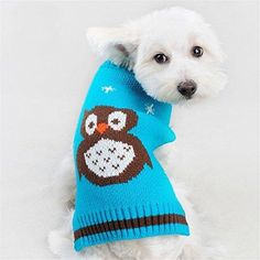 NACOCO Pet Clothes the Owl Pet Sweater the Cat Dog Sweater Jacket Dog Apparel (Medium)