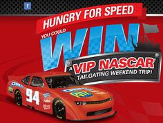 Sweepstakes Hungry For Speed Nascar Trip and Instant Win Game - See more at: https://www.freebcd.com/freebie/sweepstakes-hungry-for-speed-nascar-trip-and-instant-win-game/#sthash.Y2Gti4yY.dpuf