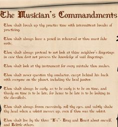 """Based on the comic The Musician's Commandments, this poster states everything that a musician needs to know in order to survive the music business. The 17"""" x 11"""" poster is professionally printed on hi"""
