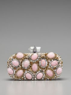 Marchesa                                                 Crystal Embroidered Turnlock Clutch
