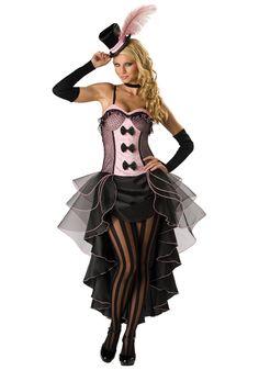 Hermoso y sensual Disfraz Burlesque, incluye Vestido de dos Piezas, Guantes y Sombrerito. Precio: $25990