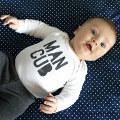 Make a fun, graphic onesie for your baby boy.